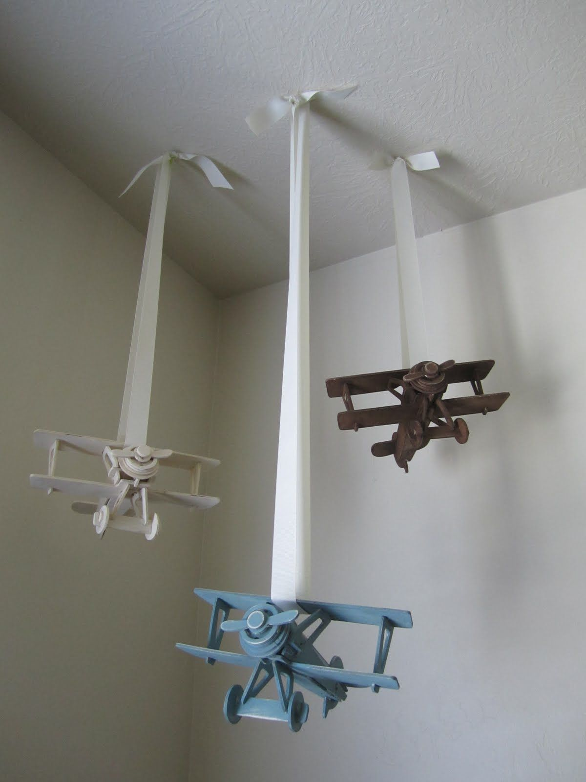 Airplane Bedroom Decor: Cute Airplanes For A Little Boys Room. Bought Each