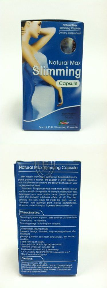 Health And Fitness: New-Fat Burner Natural Max Slimming Capsules Original 100% Herbal -> BUY IT NOW ONLY: $30 on eBay!