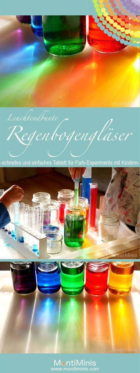 Regenbogengläser - Experimentieren mit Farben - Montessori Blog & Shop - MontiMinis