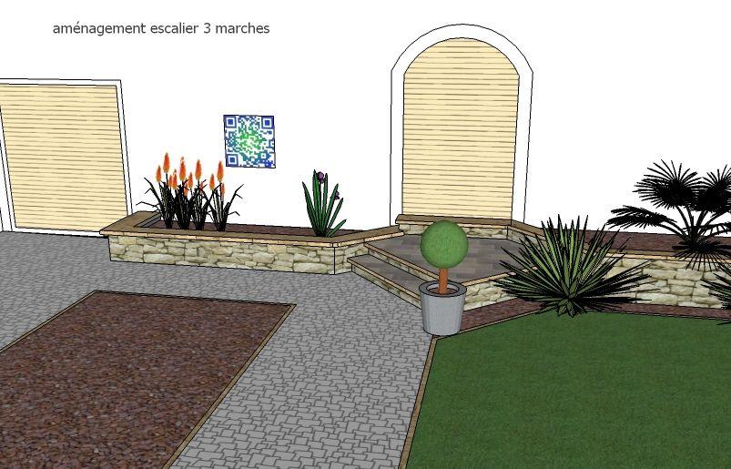 aménager une porte du0027entrée avec 3 marches soit 60 cm de vide