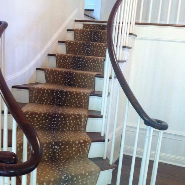 Runner   Stark Antelope Print. Carpet On StairsCarpet ...