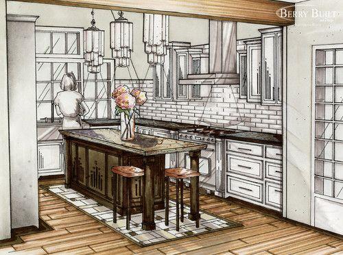 Deco Kitchen Design Sketch Remodel Inspiration In 2018 Pinterest