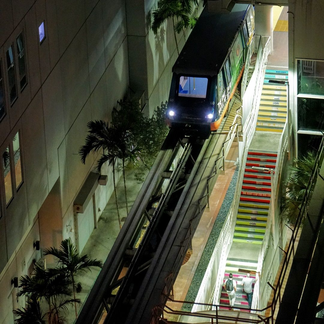 Nearer to the Life Miami MetroMover Inner Loop at the