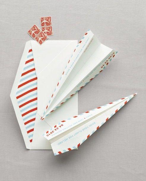 Martha Stewart's take on the paper plane invitation ...
