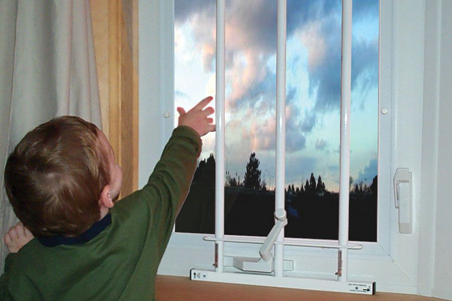 Guardian angel window guards for upstairs window safety