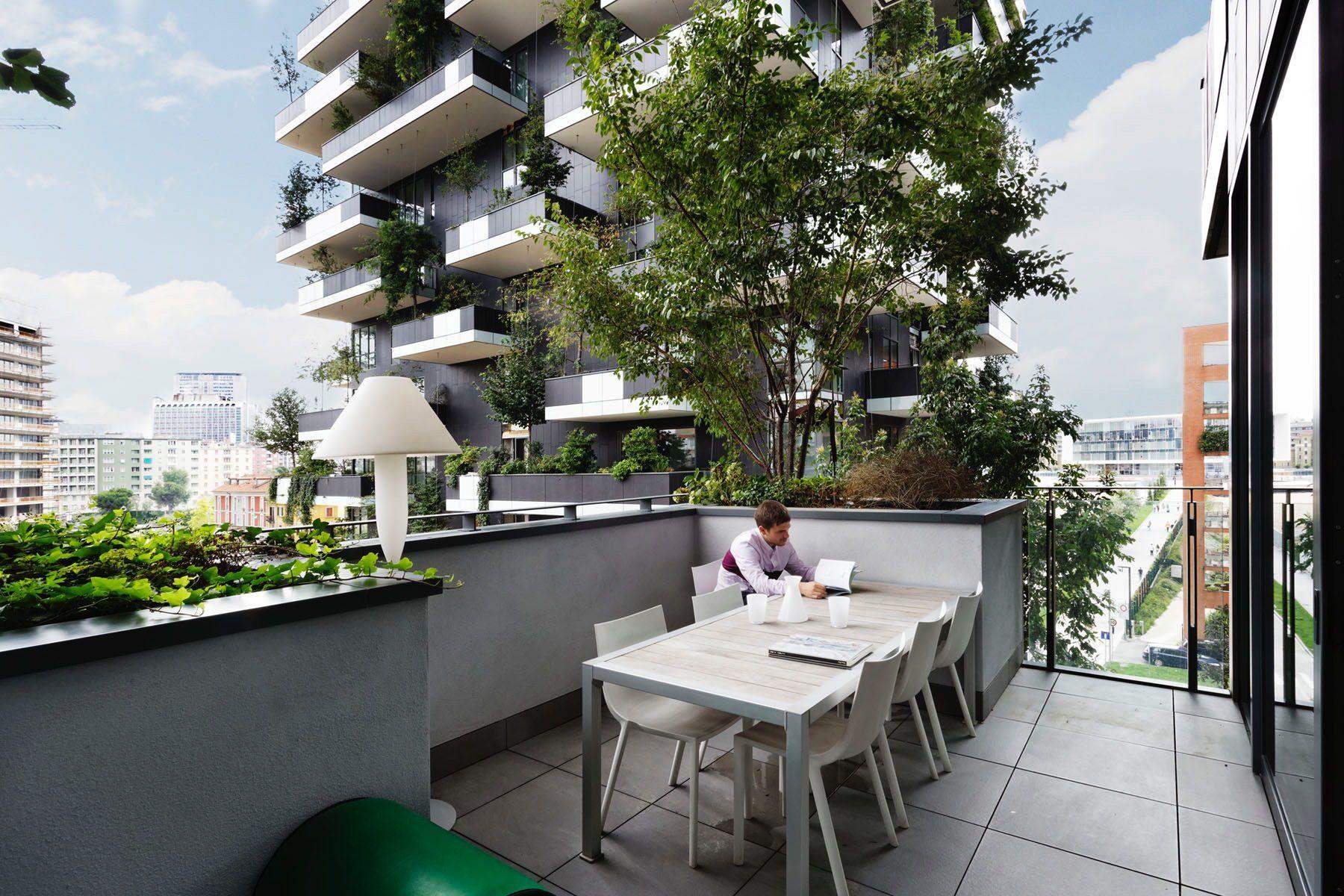 Bosco Verticale Internationaler Hochhaus Preis 2014 Geht Nach Mailand Grune Architektur Dachbegrunung Architektur