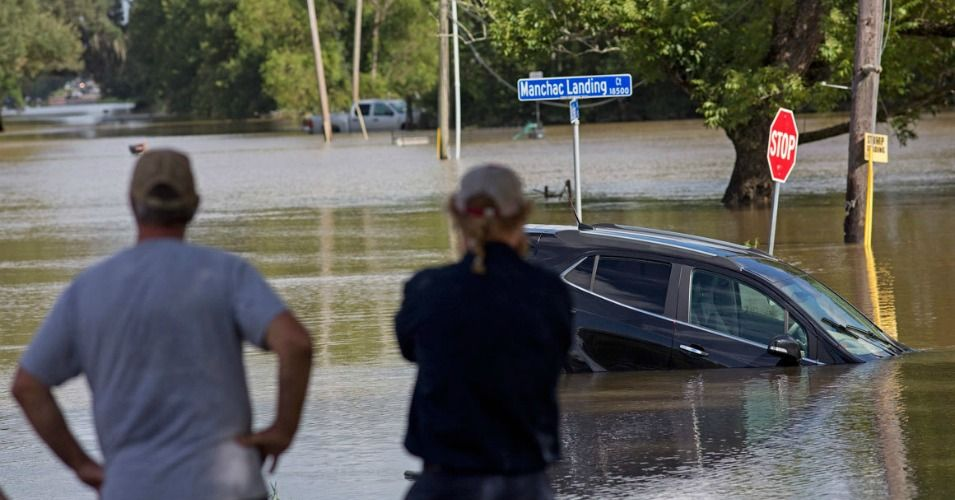 The Floodwaters Are Receding In Baton Rouge Louisiana And The Scale Of The Louisiana Flooding Weather Climate Louisiana