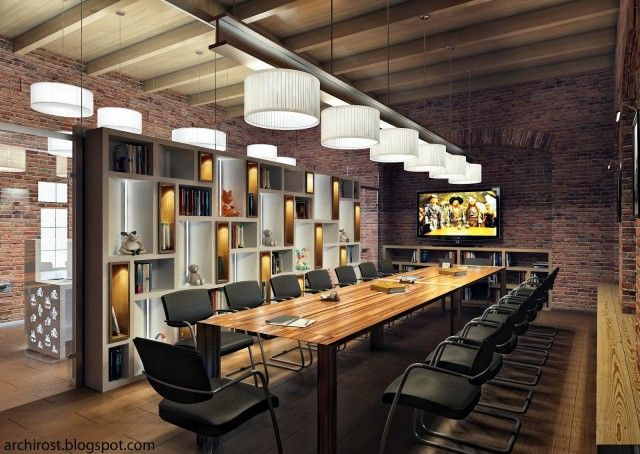 Visualization of soft toys factory office industrial Industrial design office space