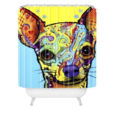 Deny Designs Home Accessories Dean Russo Chihuahua 1 Shower