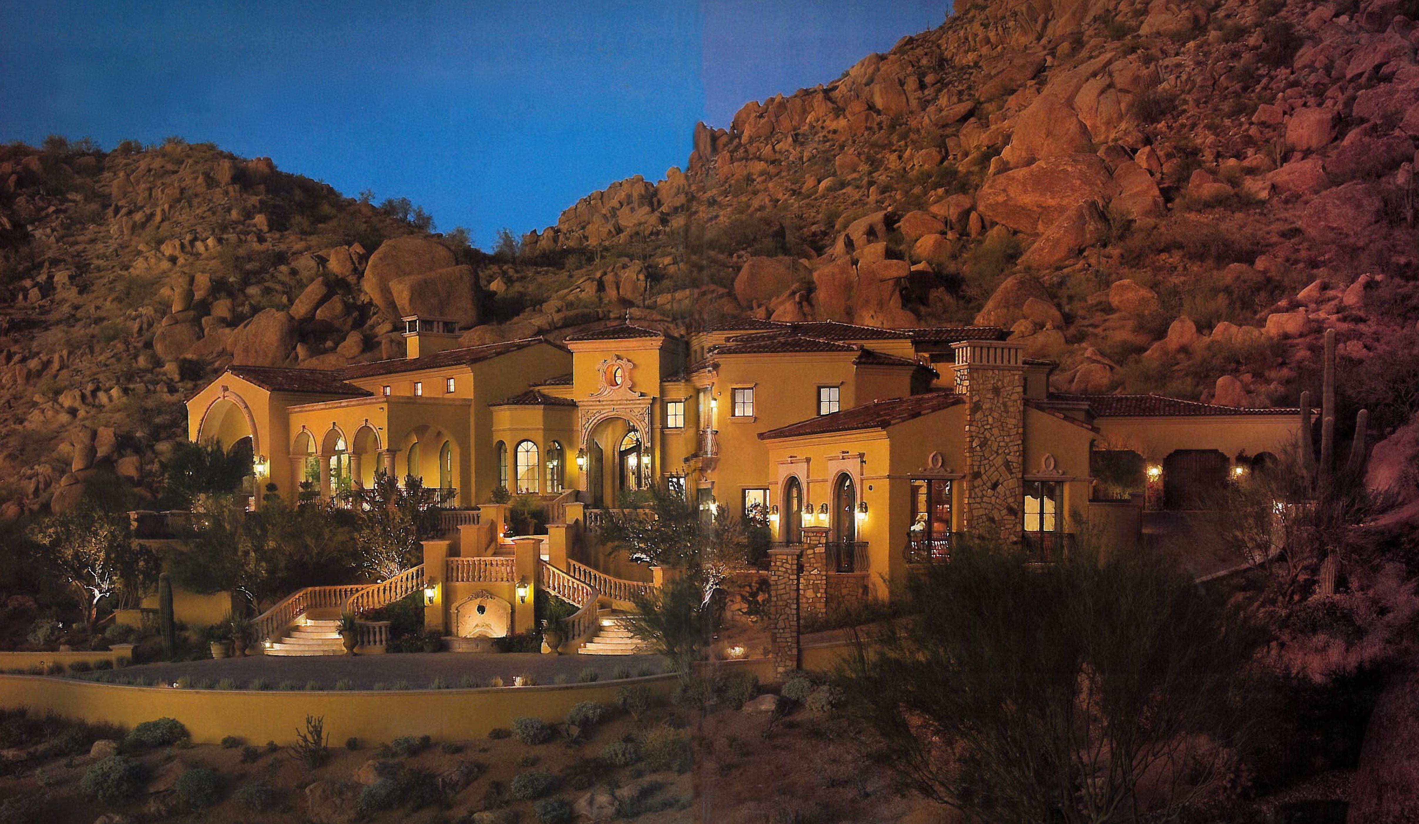 Stunning candelaria design formal mediterranean home in for Scottsdale architecture firms