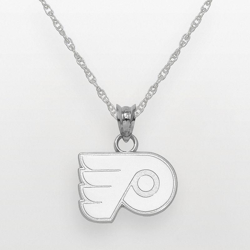 LogoArt Philadelphia Flyers Sterling Silver Logo Pendant, Grey