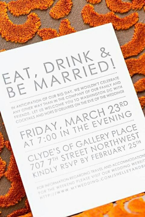 Love the non formal weirding of this invitation wedding ideas - invitation non formal