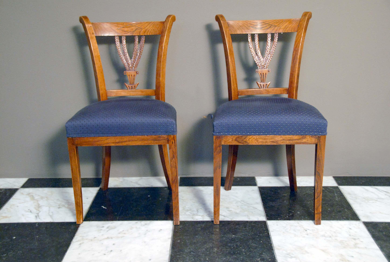 Beautiful hollands iepenhout korenaar stoelen with barok for Barok eetstoelen