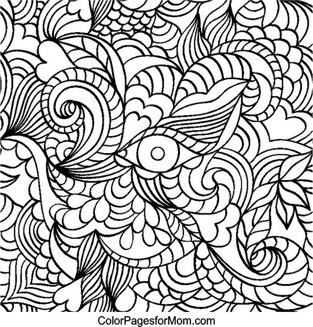 Hearts coloring page 32 adult colouring pinterest adult coloring Negative Coloring Pages Bipolar Coloring Pages Stress Coloring Pages