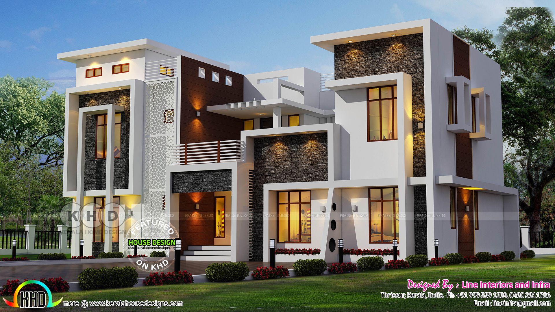 Homey kerala home design june and floor plans also facades rh pinterest