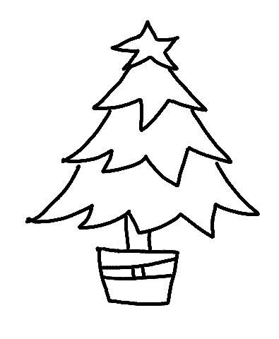 Christmas Tree Line Drawing Christmas Tree Drawing Christmas Tree Clipart Christmas Tree Drawing Easy