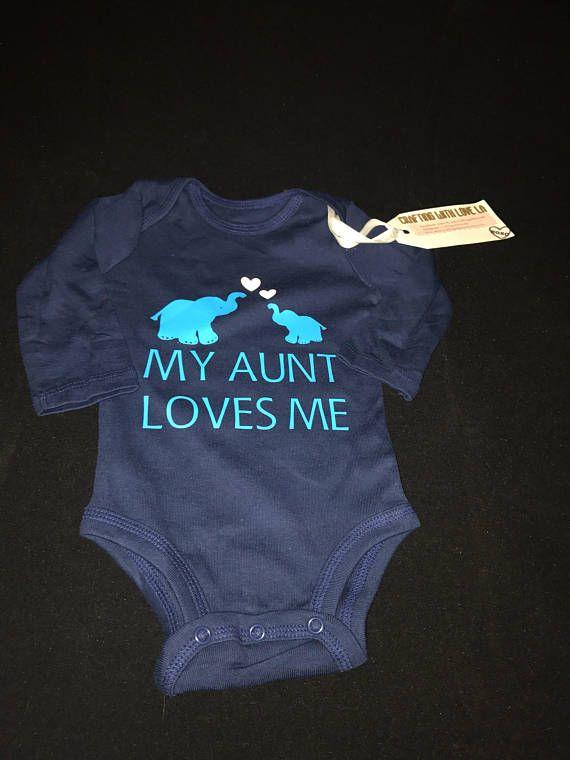 Aunt shirt my auntie loves me a ton nephew gift aunt baby my aunt loves me onesie baby boy baby girl onesie aunt onesie negle Gallery