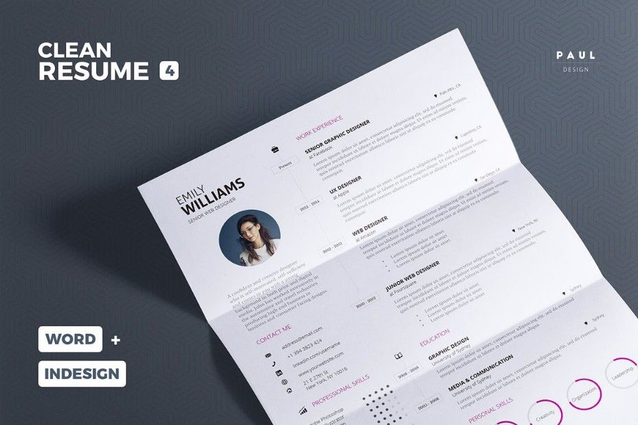 25+ Professional Resume Templates u2013 PSD,Word,Indesign,DOC,PDF 25 - resume templates doc