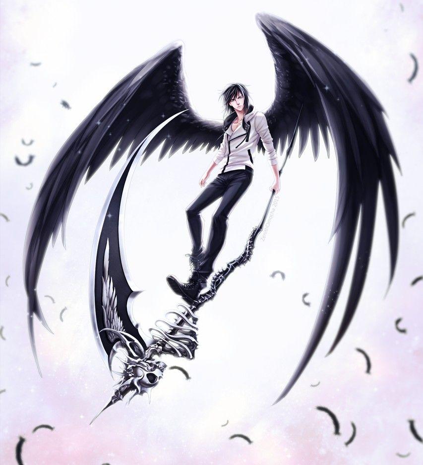 Картинки аниме мальчиков демонов с крыльями