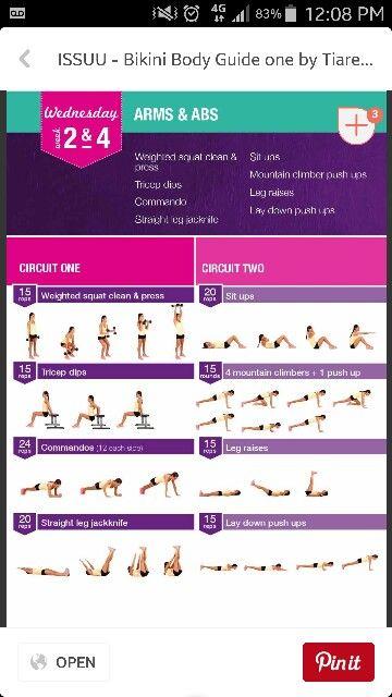 Bbg Kayla Itness Week 2 4 Weds Kayla Itsines Workout Kayla Workout Bbg Workouts