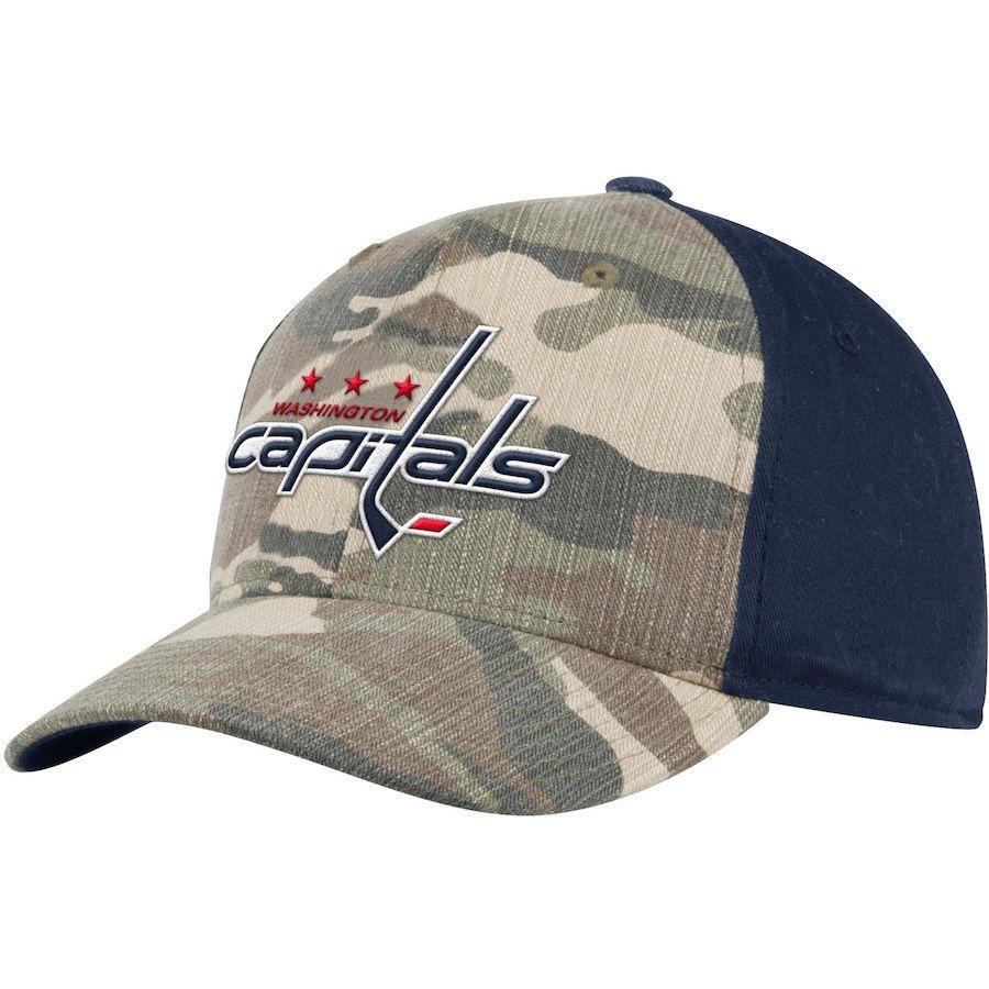 Men s Washington Capitals adidas Camo Navy Adjustable Hat 318f94b2d