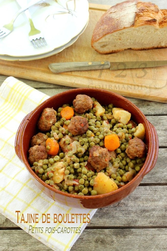 Tajine de boulettes et petits pois carottes cookeo food sal ethnic recipes chana masala - Cuisiner petit pois en boite ...