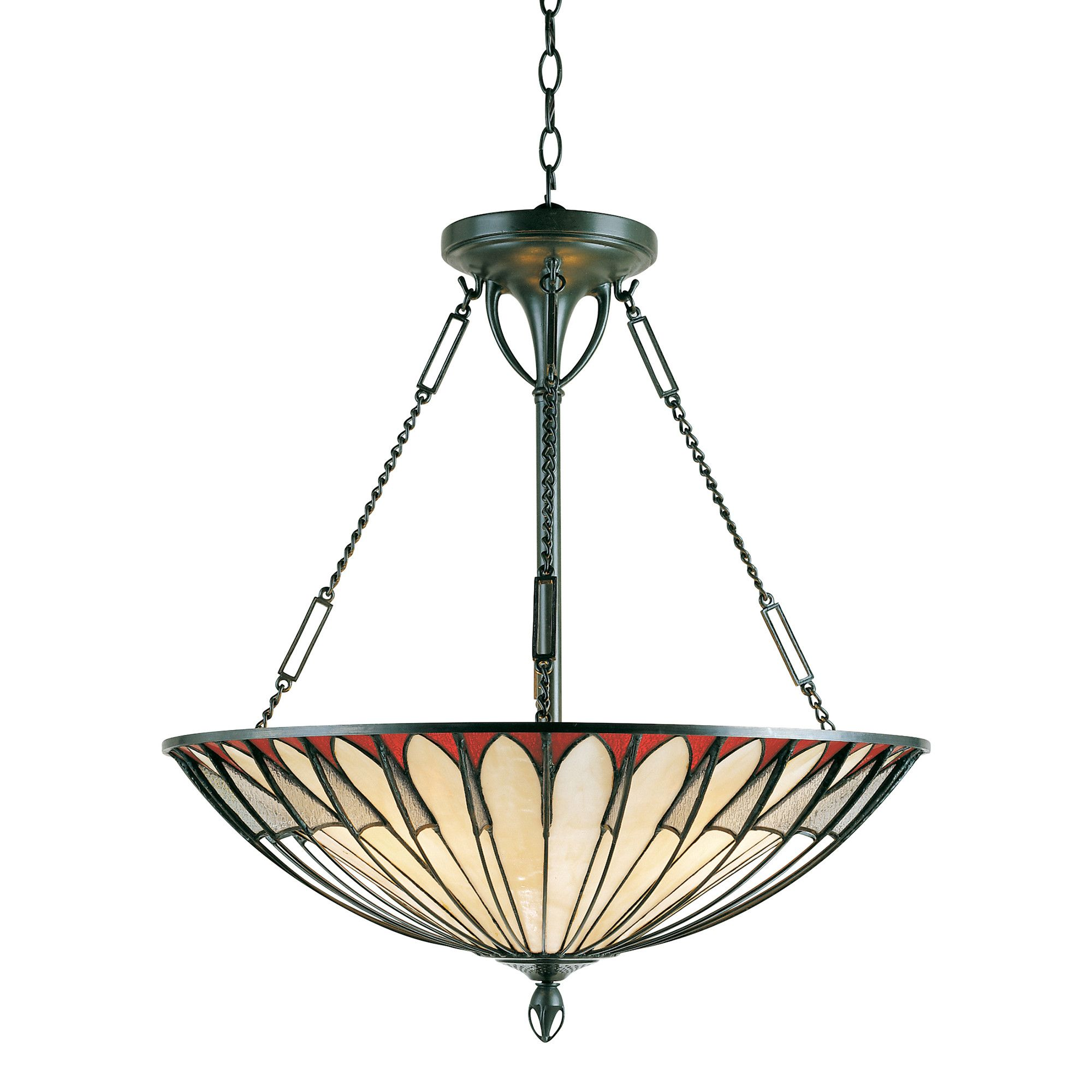 The Alhambra Tiffany Ceiling Light by Elstead Lighting is a finely