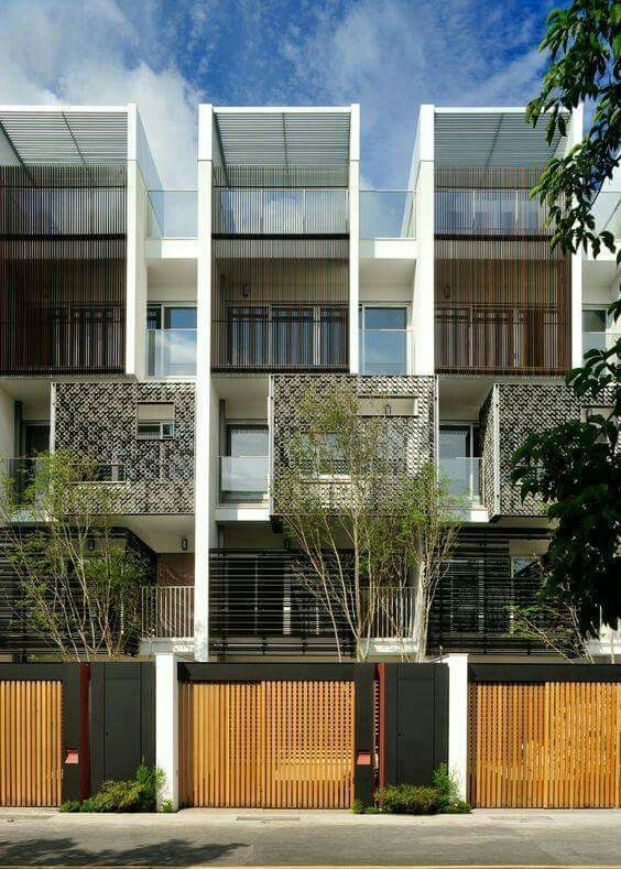 Simple forms improved with light mesh in the front lovely also good terrace concept rh pinterest
