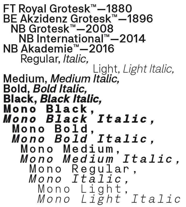 "searchsystem: ""Neubau / Neubau Akademie™ / Typeface / 2016 """