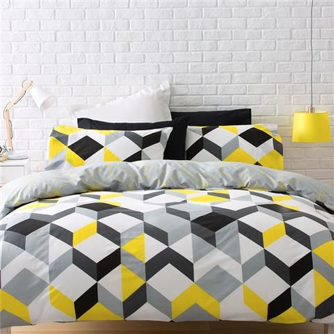 Kenzi Quilt Cover Set Double Kmart Yellow Bedroom Decor Bedding Sets Duvet Design