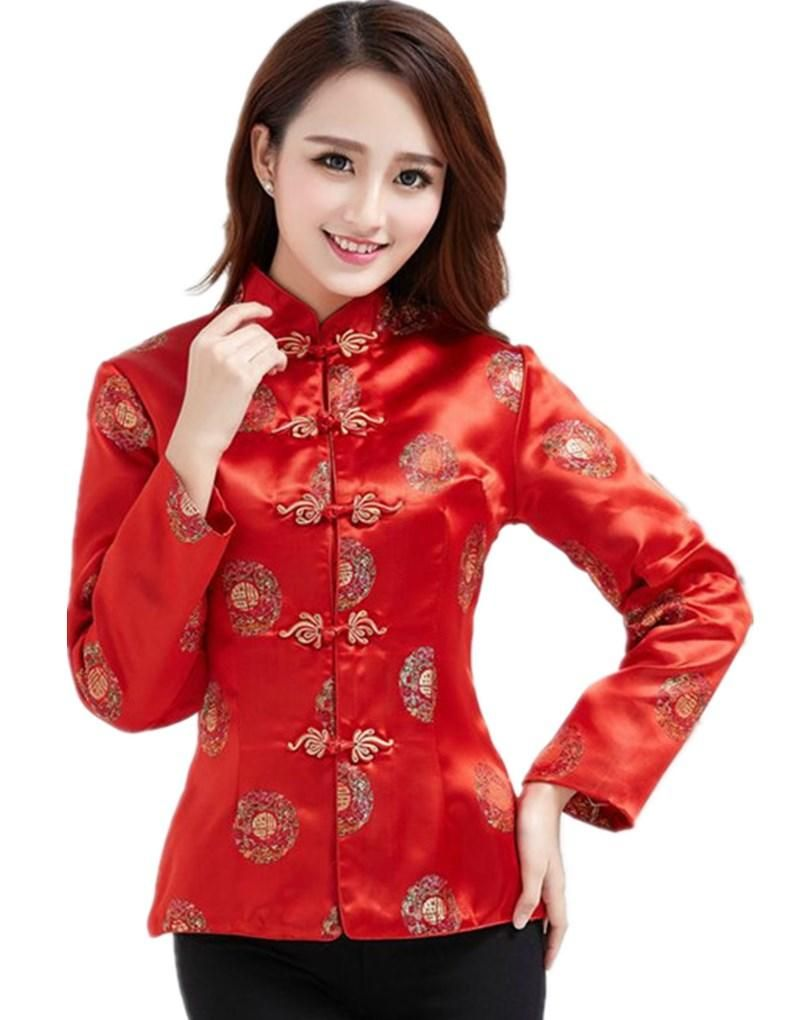 3def70fd658 Dragon Embroidery Traditional Clothing Long Sleeve Chinese Traditional Top  For Women 2 Style Women Jacket Ladies Jacket From Lily1111