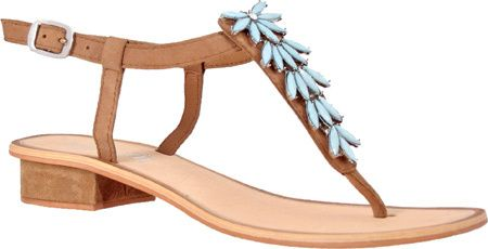Women's Nomad Turquoise Bay Sandal - Tan/Turquoise Thong Sandals