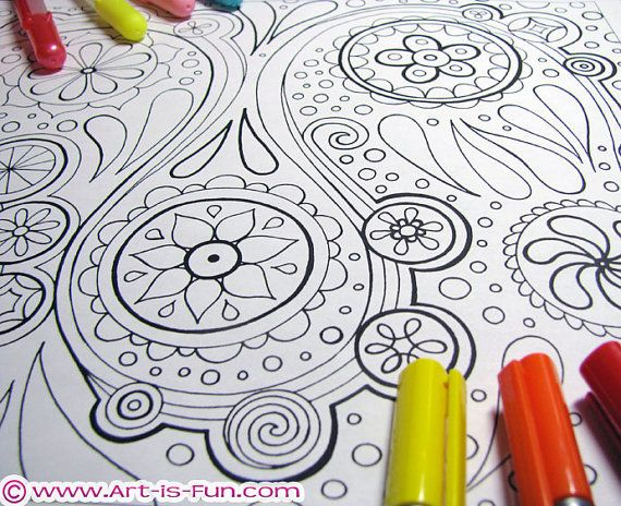 Abstract Coloring Pages PDF - 20 Printable Blank Abstract Designs ...