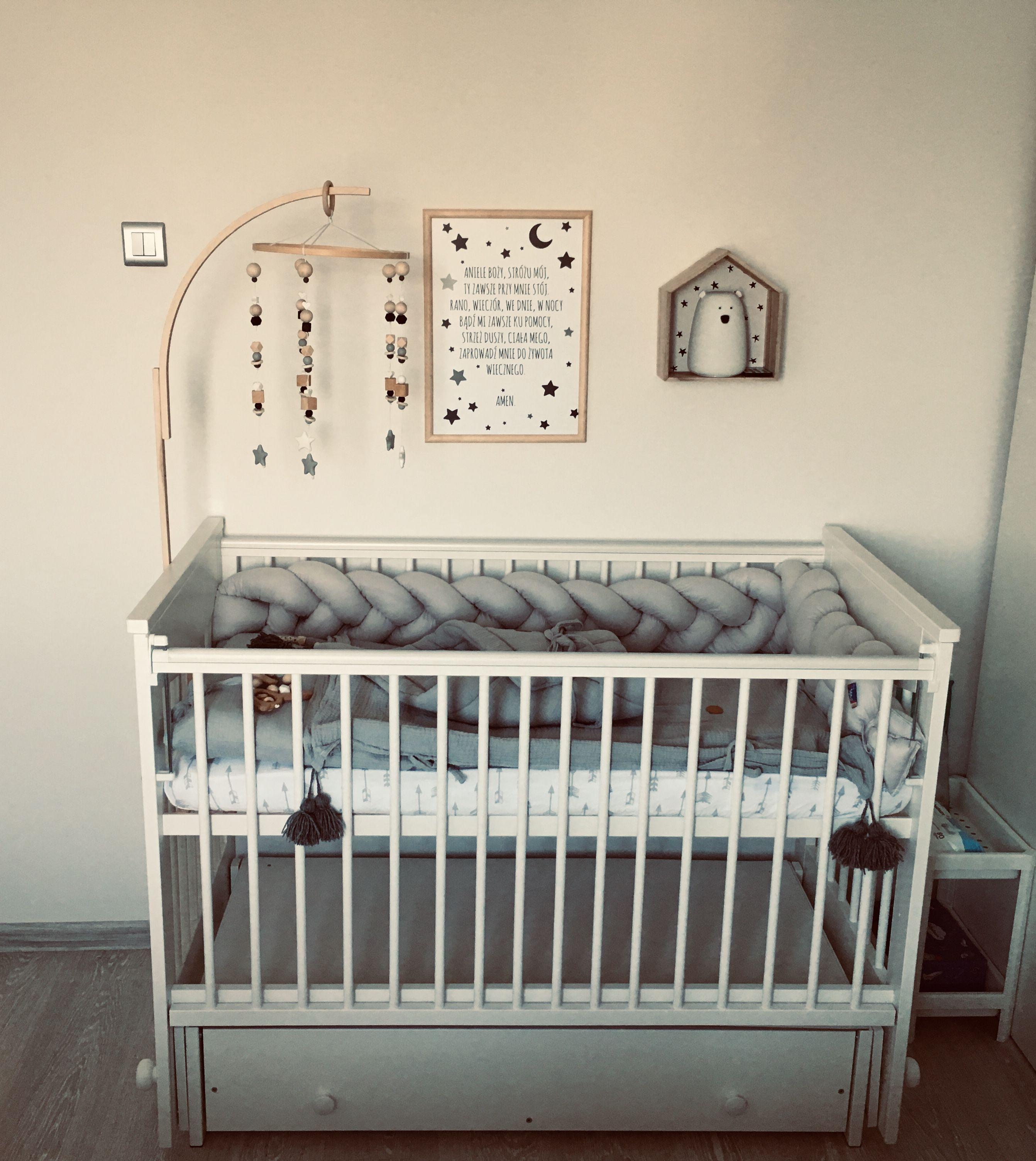 Biale Lozeczko Kolyska Luna Z Opuszczanym Bokiem Home Decor Furniture Cribs