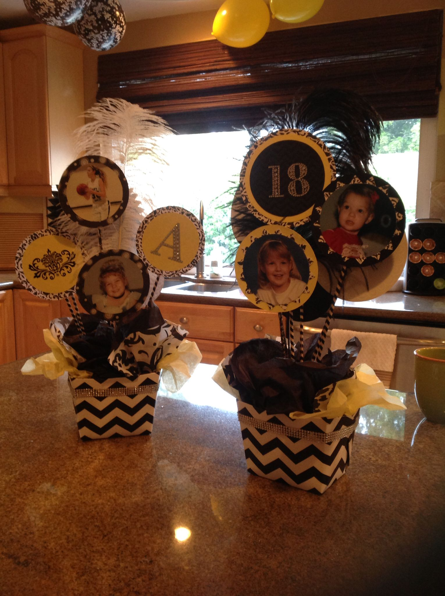 Center Pieces For 18th Birthday Party Decorations 18th Birthday Projects To Try