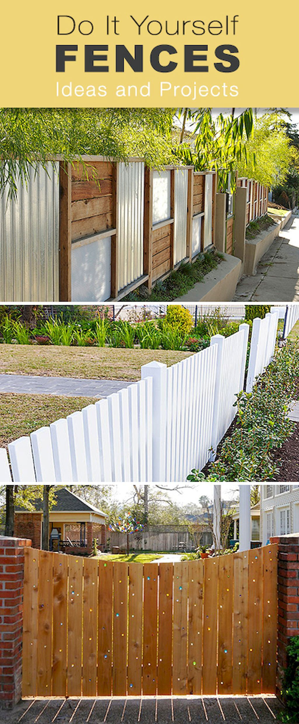 Adorable 78 Creative Privacy Fence Ideas For Gardens And Backyards ...