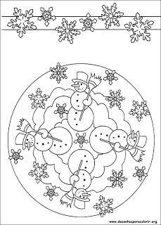 Professoras Online Mandalas De Natal Colorir Pintar Com