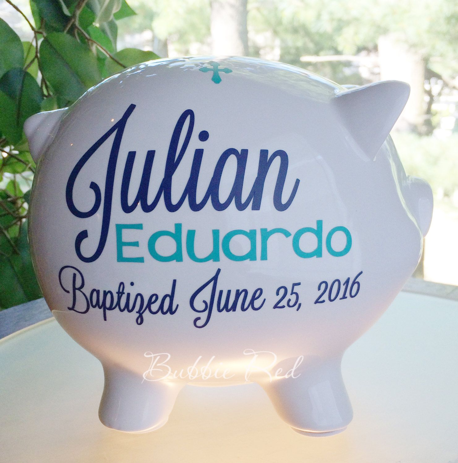 Baptism gift for boy or girl christening gift personalized piggy baptism gift for boy or girl christening gift personalized piggy bank baby girl negle Choice Image