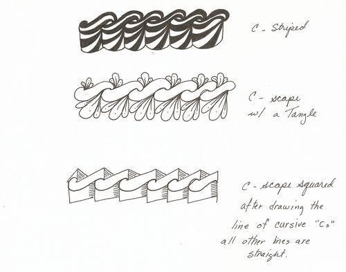 part 2 - c-scape tangle pattern