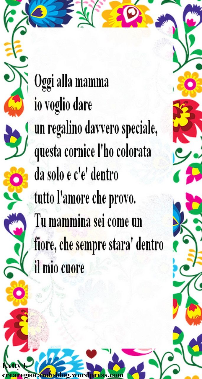Carta floreale da colorare primavera festa della mamma - Rima con porta ...