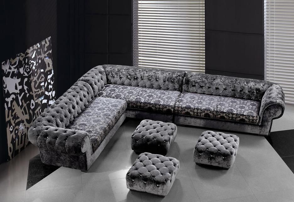 Contempo Chesterfield Corner Sofa By Denelli Italia Sofas 2 395
