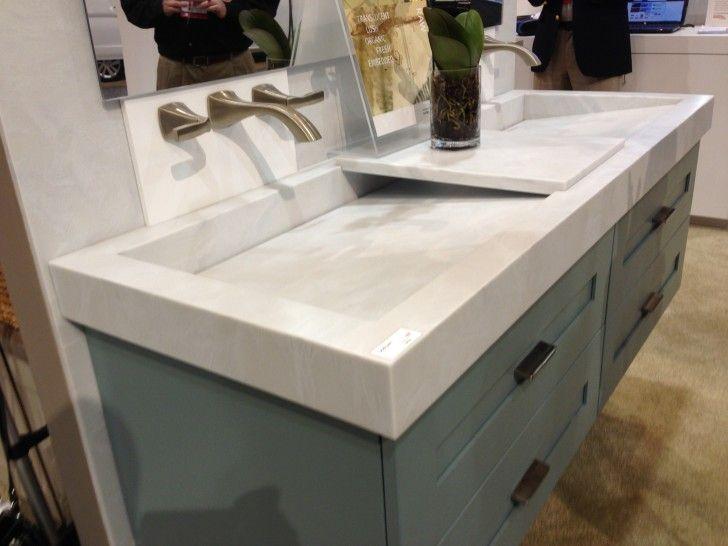 bathroom vanity sets with trough sink