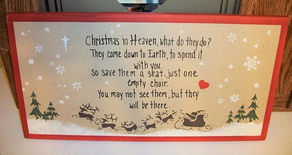 Christmas In Heaven Wood Memorial Sign Christmas Decor