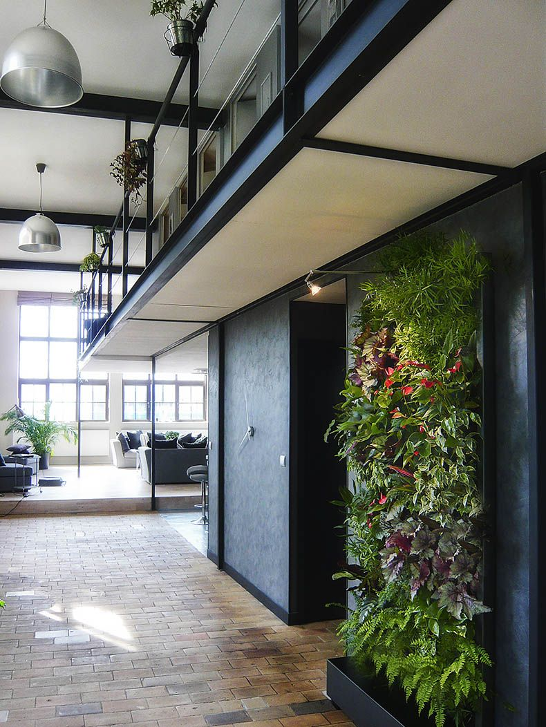 Jardin vertical comedor interiorismo senda c43 - Jardines verticales interiores ...