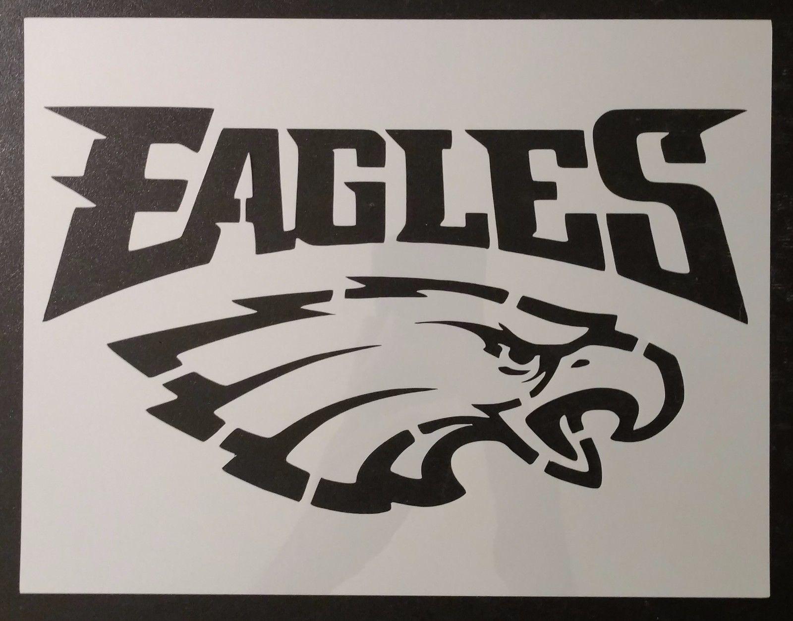 Philadelphia Eagles StencilMylar Plastic Sheet Reusable/&Durable NFL