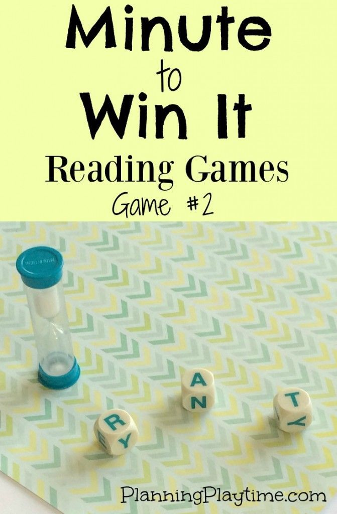 Minute To Win It Reading Game 2 Raising Readers Pinterest