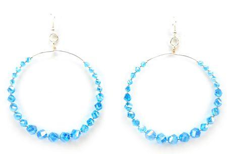 Arracadas azul / aretes  / Joyería / Moda femenina / Accesorios para mujer