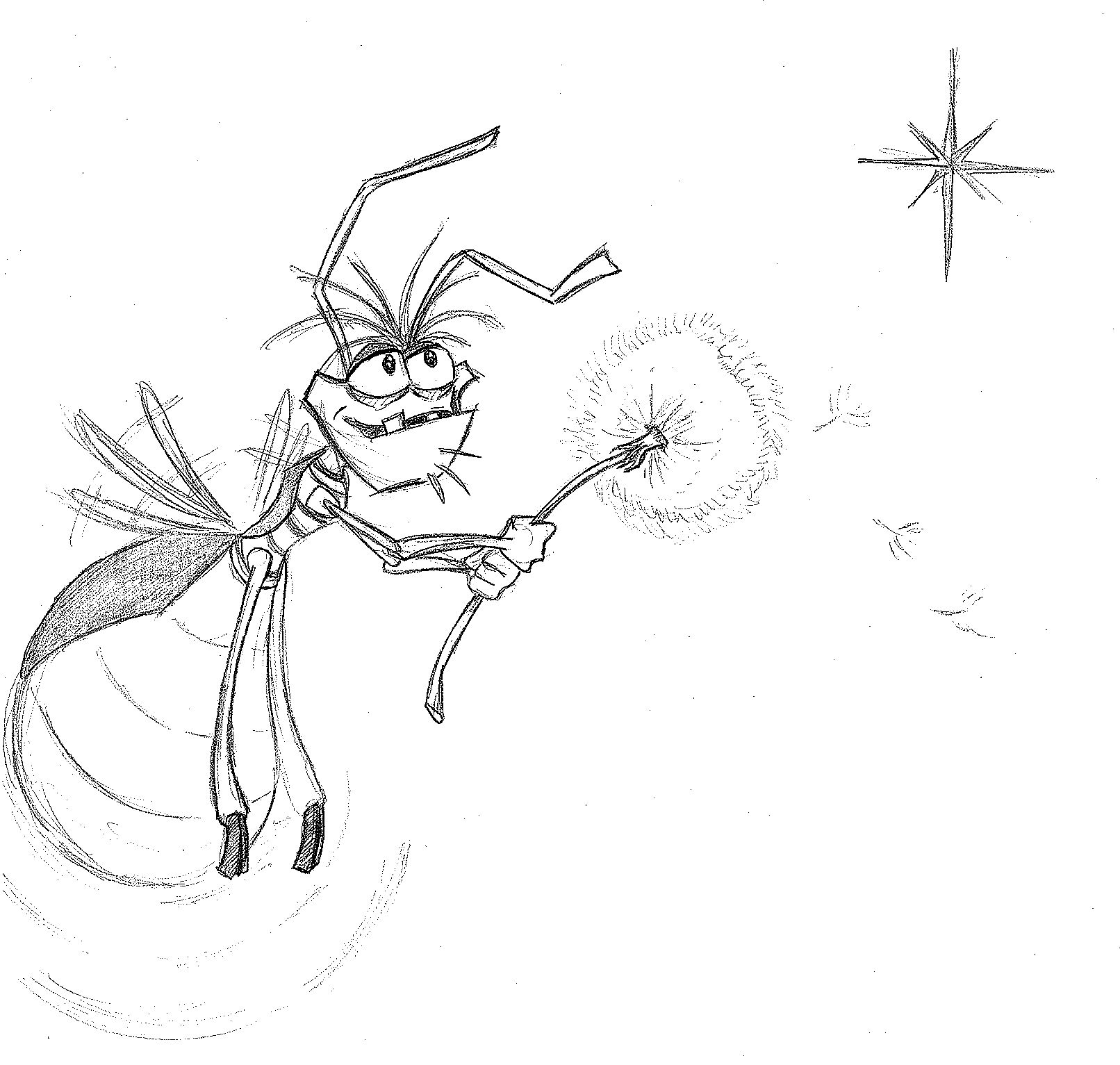 Scene With Lightning Bugs From Princess And The Frog