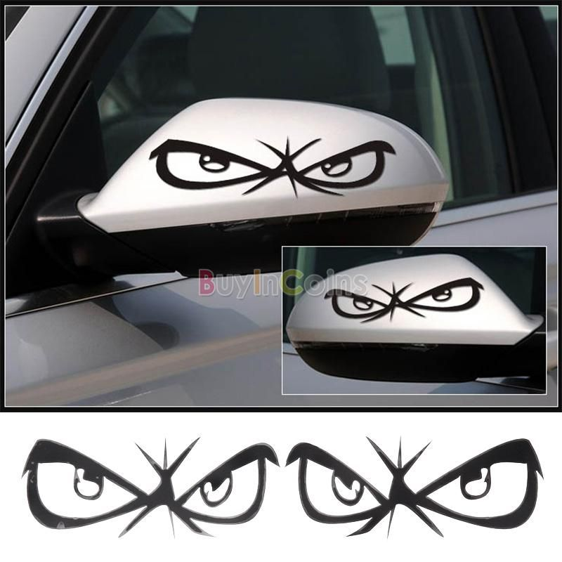 1pair ninja dragon eyes car mirror decal sticker interesting vinyl c55 buyincoins com