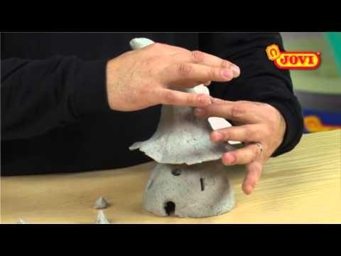 Pasta Modelar Jovi Casa De Gnomo Youtube Clay Fairy House Fairy Garden